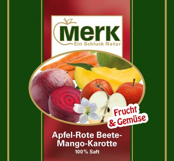 Apfel-Rote Beete-Mango-Karottensaft